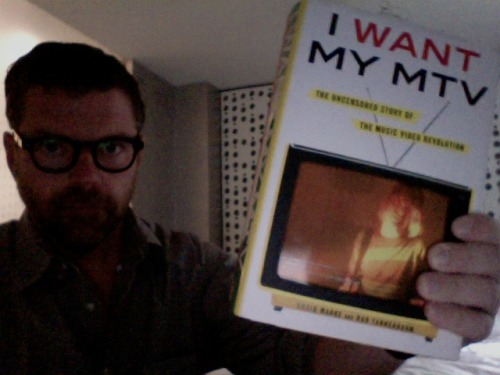 Hey, guess what! We're giving away 5 copies of I Want My MTV. Right the fuck now! The First 5 people to email imremembering@gmail.com will get a book. You must put I WANT MY MTV in the subject line to be eligible. Only winners will be notified. Good luck!  daveholmes:  This wonderful oral history of the golden era of MTV is out today, and I suggest you buy it. Pitchfork has an excerpt on its front page today. If you're around tonight, the authors are doing a little forum/Q&A thing at the Tribeca Barnes & Noble at 7pm with me, DMC and Ed Lover, along with whichever of the early execs decides to drop in. It should be interesting, but I'll be honest: it will definitely be less sexy and drugsy than much of the goings-on in the book.   Anyway. Get your copy here and say goodbye to your weekend.