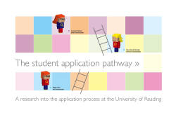 The studen application pathway Product: Research report and illustrateduser journeysSupervisor: Paul LunaClient: University of Reading, represented by Helen Setchell, head of web and new mediaWhere and when: 2011, University of ReadingResearch team: Corinne Pritchard, Philipp Edler and Maren Volsdal SkirbekkIllustration: Maren Volsdal Skirbekk The University of Reading, represented by Helen Setchell, head of web and new media, proposed a need to research the recruitment and application process for undergraduate students at the University of Reading. The research was done under the title 'The student application pathway' and looks at the recruitment and application process from both a student and the university's point of view. The research was looks at three different parts of communication in the recruitment and application process: One-to-one communication Printed material Web communication The University of Reading consists of many schools and departments. We decided in collaboration with the client to focus on three schools/departments to get a moredetailed view of the communication between the university and the students in the recruitment and application process. Our client choose the schools/departments: School of Politics and International Relations Department of Modern languages and European studies School of Pharmacy The aim of the 'The student application pathway' research was to: Discover gaps and room for improvement in the information given to the students through the recruitment and application process. Test the consistency in customer service Check brand consistency on the web and in printed material.
