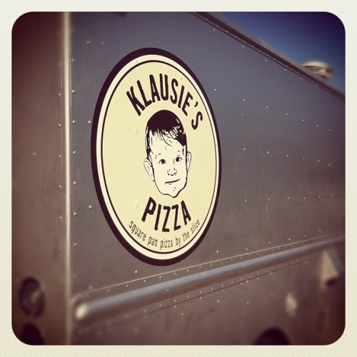 Yum @klausiespizza for lunch.  (Taken with instagram)