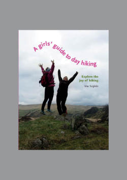 A girls' guide to day hiking Product: Blad for Home reference ManualSupervisor: Paul Luna, Ruth Blacksell and Bryn WallsWhere and when: University of Reading, 2011Photos: Mariana Eggers and Maren Volsdal SkirbekkText: Maren Volsdal SkirbekkMethodology: Discovery, transforming and making This blad was made as an ­exercise in making a blad for a home reference  manual in my MA Information design studies at the University of  Reading. The aim of this project was to design a blad for a home reference manual. A home reference manual  is not a textbook or technical manual, and a blad is a book layout and design. The blad is ­marketing tool to sell a the book to a publisher, it shows cover and some example spreads to show the concept of the manual. A girls guide to day hiking will be aimed at women aged 20 – 40. The book will be ­designed and written with focus on the joy and accessibility of hiking. The aim is to inspire and give confidence to go out hiking. Use text, photo and diagrams to explain how to perform a task Explore the double page spread as a unit for meaning Develop a systematic approach to content generation and page design Understand and undertake different roles in the publishing process
