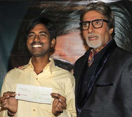 Real-Life 'Slumdog Millionaire': Man Wins Indian Game Show's Top Prize brooklynmutt:     A young man from one of India's poorest regions won $1 million on Who Wants To Be A Millionaire. Hmm, where have we heard this one before? No you haven't woken up in the year 2008 on the set of a Danny Boyle movie, though Sushil Kumar, from the eastern Indian state of Bihar, is pretty much living the plot of Slumdog Millionaire. The 27-year-old newlywed is the first person to win the top prize on India's version of the game show and just like Dev Patel's character in the Oscar-winning movie, Kumar is from an extremely poor area. According to the Guardian, he was making $120 a month as a computer operator for the government and tutored on the side to supplement his income. TIME