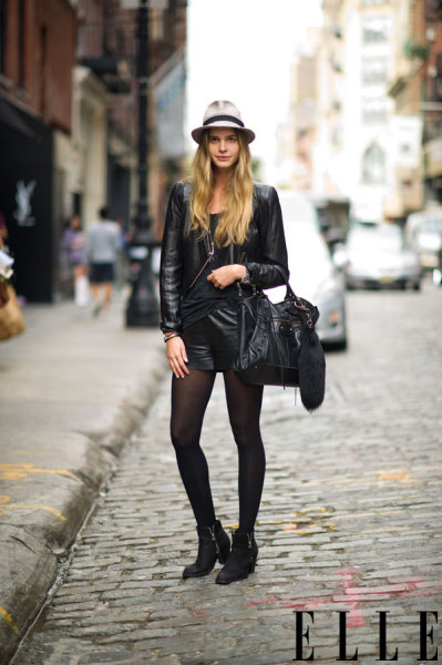 elle:  Street Chic: New York Check out 10 street style trends for fall, including a cool masculine hat. Photo: Adam Katz Sinding/Le 21ème Arrondissement