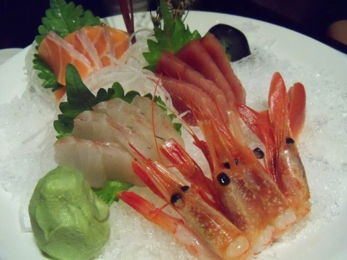 "Sashimi combo plate at ""Well on Fine Cuisine"" in Shanghai China."