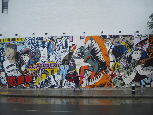 New art at the Houston and Bowery Wall by Bushwick artist Duo Faile