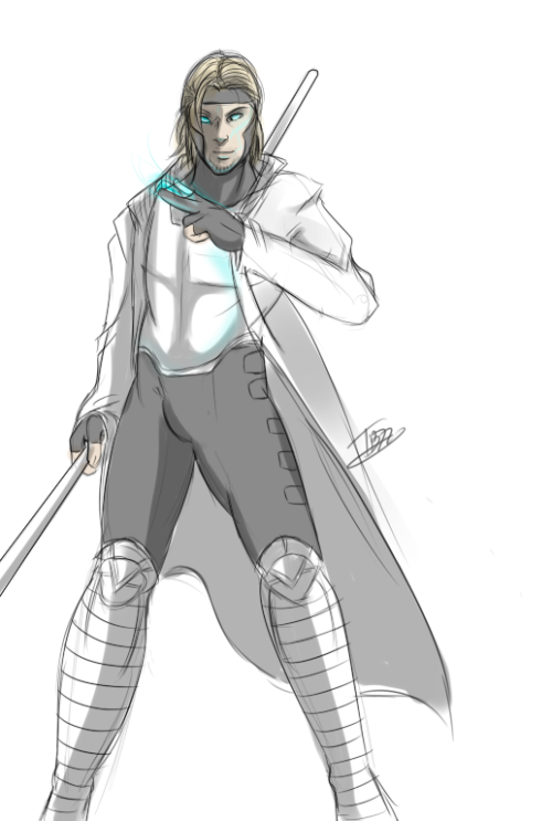 noiratelier:  Anders as Gambit for HamburgerJack's fantastic idea: Here To me it just made all the sense in the world…plus you know I have a total girl boner for Remy…so why not?   I wonder if this means he no longer sucks at card games…