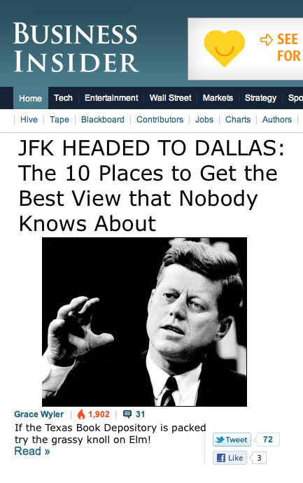 November 21, 1963 - Before JFK visited Dallas.