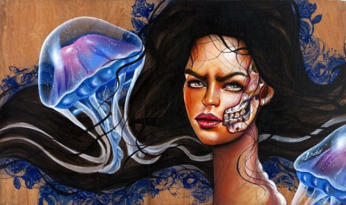 One of my new pieces 'medusa' www.facebook.com/mjlindoart