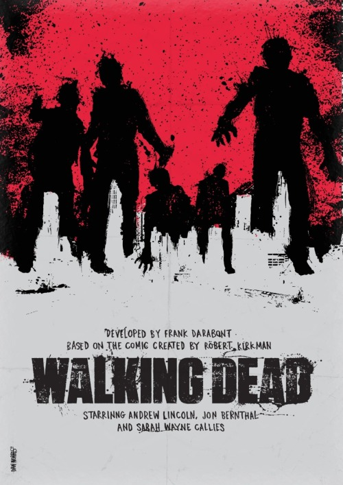 minimalmovieposters:  The Walking Dead By Daniel Norris