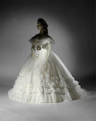 Cotton Wedding Ensemble (French), Met Museum, 1864