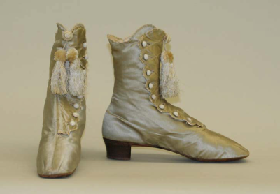 Wedding Shoes (American), Met Museum, 1864