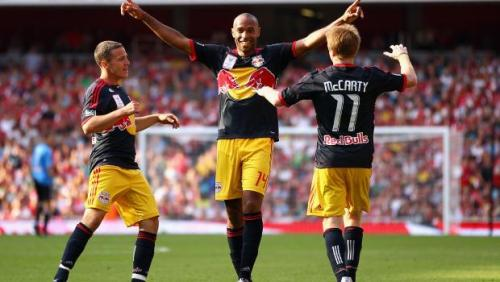 Should the @NewYorkRedBulls rock the yellow shorts and navy kit vs the @LAGalaxy?  We say YES. They won the Emirates Cup in the kit and it's much better than the alternatives… - DJ