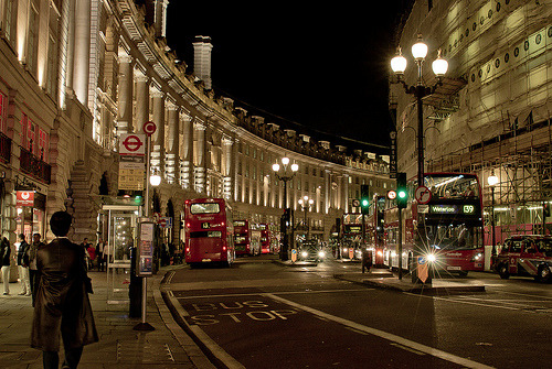 The famed Regent Street in London, England (by Larry Laurex)