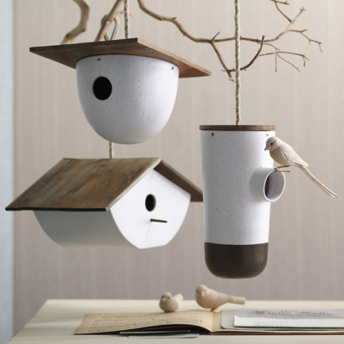 Birdhouses by DIGS via Méchant Design