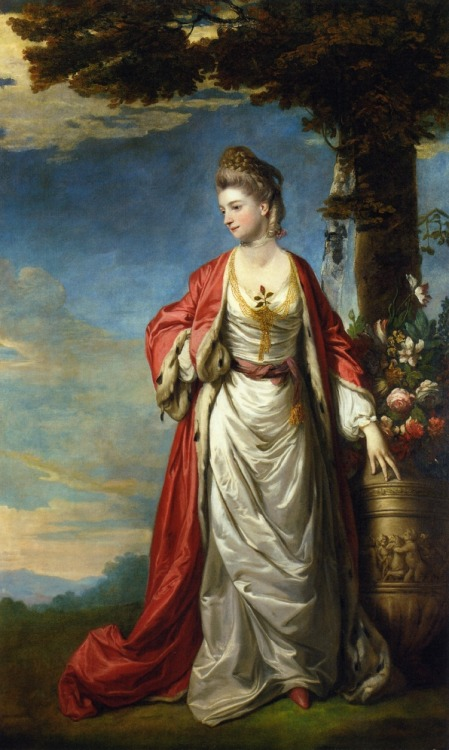 Sir Joshua Reynolds painted Mrs. Trecothick in 'Turkish' masquerade dress in 1770-1771.