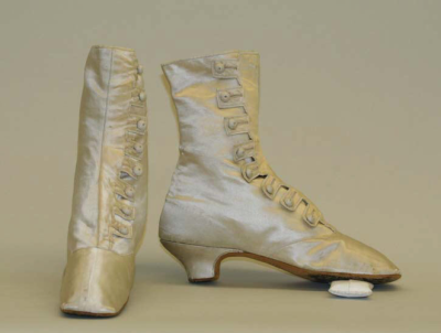 Wedding Boots, Met Museum, ca. 1870