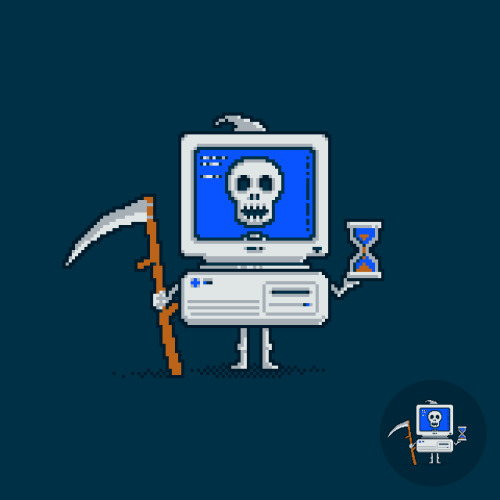 """Blue Screen of Death"" vote for it to get printed at Threadless - click here."