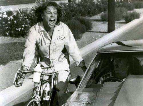Mark Hamill rides a bike. Ragefully.