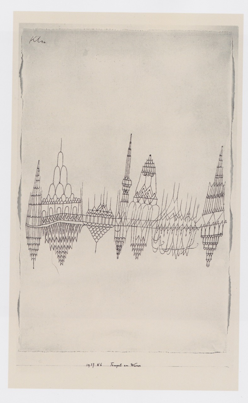 icancauseaconstellation:  Temples by the Water, 1927 by Paul Klee. Scanned from The Klee Universe.
