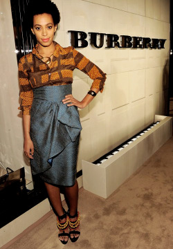 "effyeahsol-angel:  Solange attends the launch of Burberry's new fragrance ""Burberry Body"""