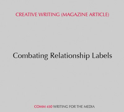 Sample: Creative writing (magazine article) Click here to view.
