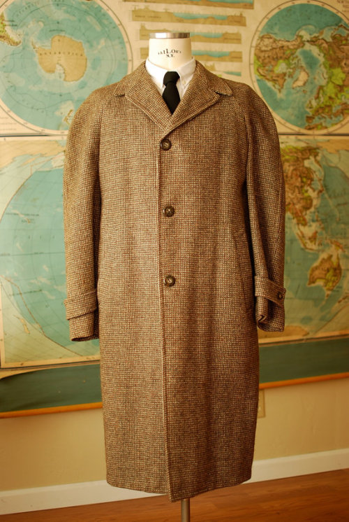 (via Harris Tweed Frock Coat 3/4 Length Overcoat size 44 by glassandore) Sold