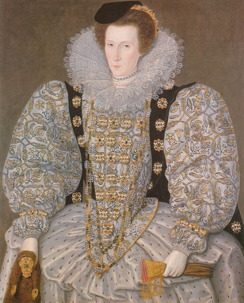 Unknown Lady by William Segar (attributed), ca 1595