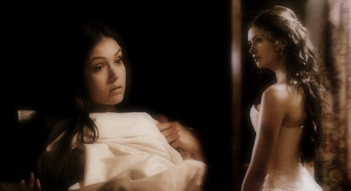Elena asks Katherine to join her in bed.