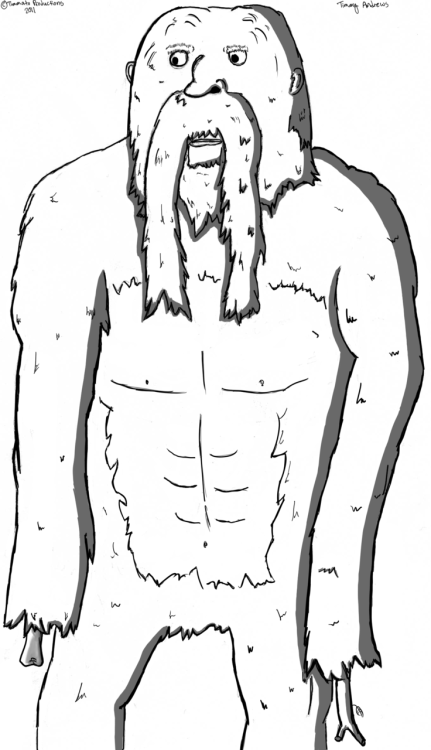 It's a 'stachesquatch. Drawn by me, Idea by Chris Gonzalez.