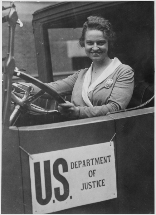 Woman Member of the Secret Service, Olive H. Doyle (by The U.S. National Archives) 1920