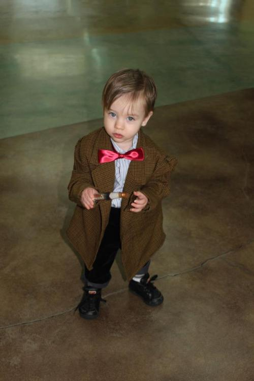 mischief89:  annakie:  This is my nephew in his Halloween costume! Look out Matt Smith, I think you have some competition! :3   I SHALL STEAL HIM. AND HE SHALL BE MINE FOREVER.
