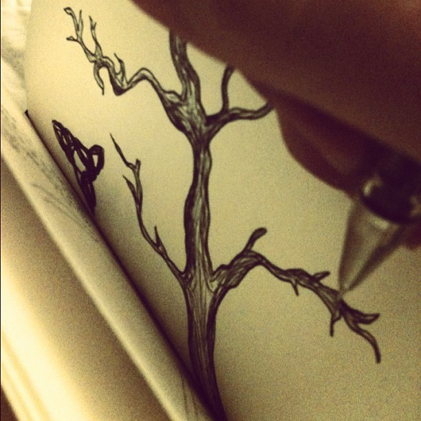 #moleskine #drawing (Taken with instagram)