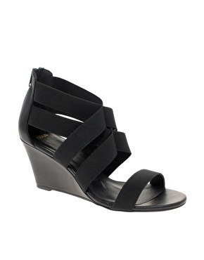 ASOS Spice Stretch Wedge Sandals