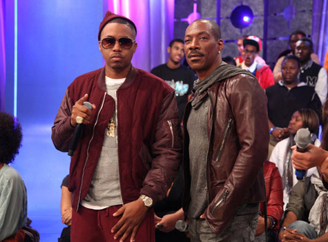 Nas and Eddie Murphy. #towerheist