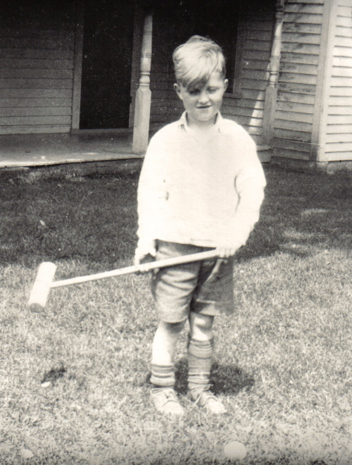 My grandfather playing croquet in 1931.