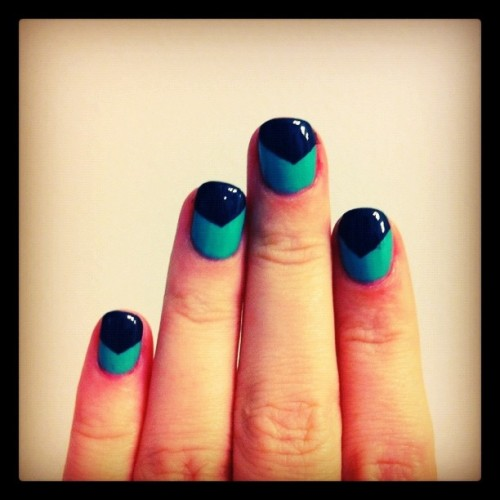 Fun #manicure time again! I'm loving this one. (Taken with instagram)