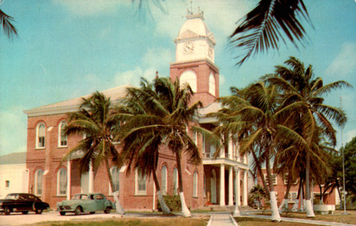 Monroe County Courthouse, Key West in the 1950s. Source: Alachua County Historic Trust