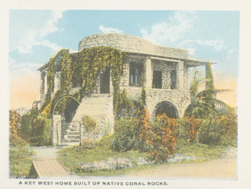 Home built from coral rock in Key West. Source: George A. Smathers Libraries