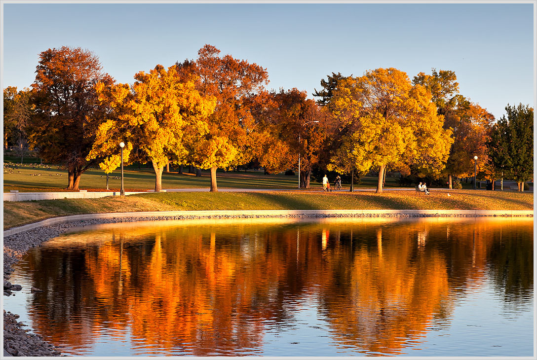 Fall sunset this week at City Park in Denver.