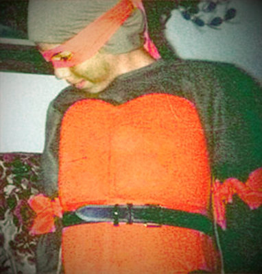 mikeedesign:  My homemade Ninja Turtle Halloween costume, circa 1990. (Taken with picplz.)