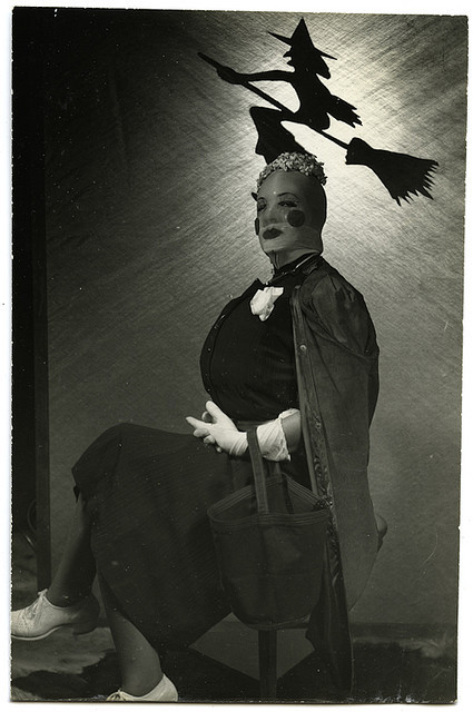 Vintage Halloween Portrait - A Very Scary Woman from AtypicalArt