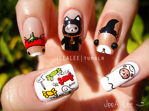 Rilakkuma Halloween Nails