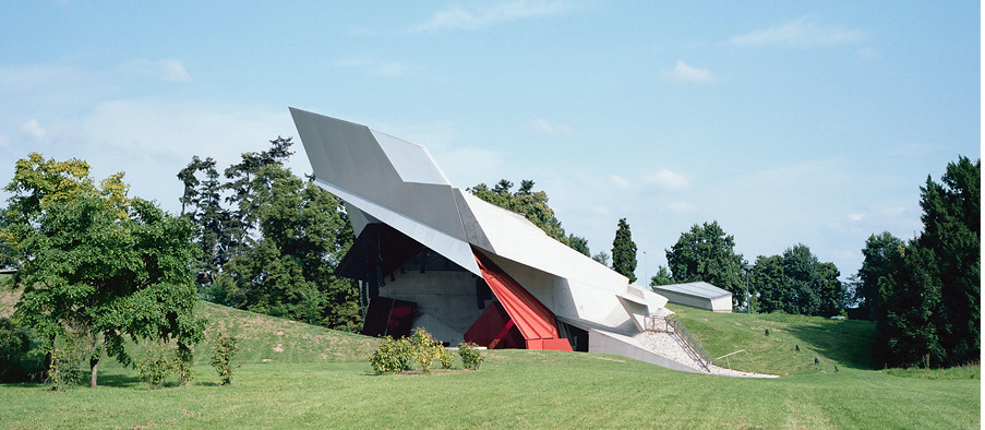 Open-air stage at Grafenegg's Wolkenturm, designed by architects the next ENTERprise.