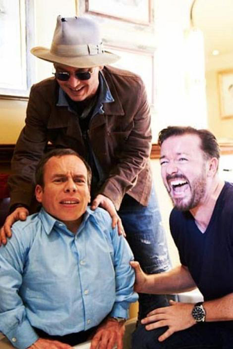 Johnny Depp gets Golden Globes revenge on Ricky Gervais Johnny Depp finally has some payback over comments Ricky Gervais made at the Golden Globes last year about his film The Tourist.             It's not quite the media spat you might expect though, as Depp's jibes feature on Gervais' new comedy series Life's Too Short.         Warwick Davis stars in the show as the head of a talent agency run exclusively for smaller actors. [FOR MORE CLICK ON RICKY AND HIS MATES OR FOLLOW THIS LINK]