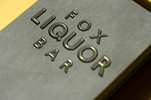 wow, this type makes me swoon. gold foil & pewter paper = amazing. wish i could get my hands on one of these!