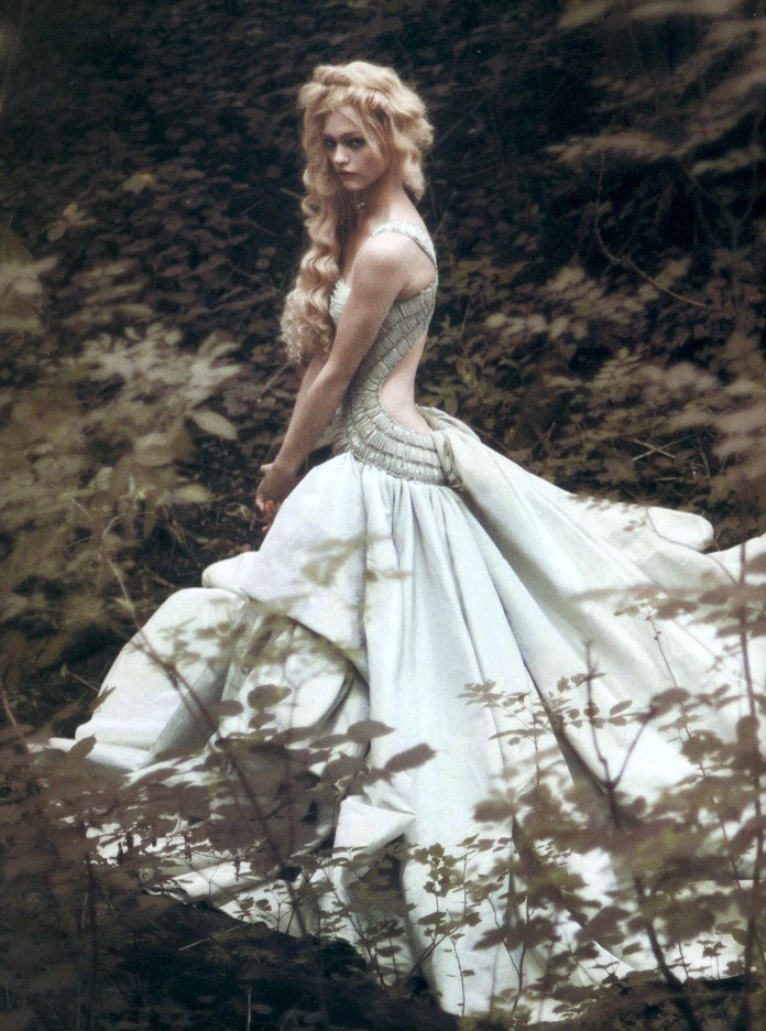 'Couture Memoirs' Sasha Pivovarova by Paolo Roversi for Vogue Italia September 2007