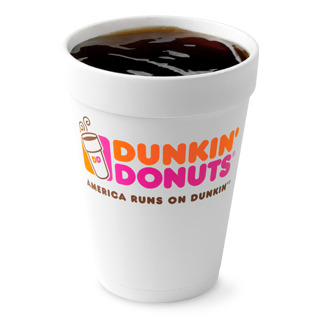 People spotted with a cup of Dunkin' Donuts coffee in a populated public area today could win a free flight on JetBlue Airways.