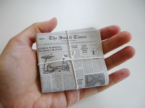 laughingsquid:  The Small Times, Mini Newspaper For World's Smallest Post Service Kit