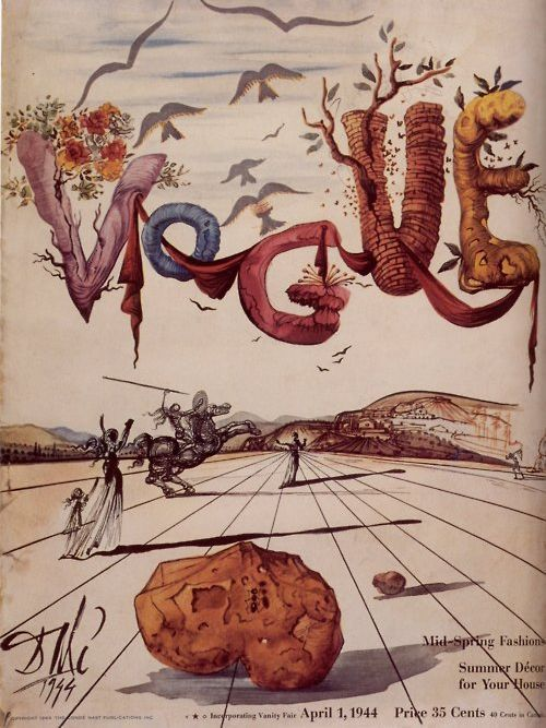 vogue cover designed by Dali.  you're welcome.  via seesaw.