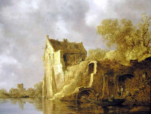 masterpiecedaily:  Jan van Goyen River Landscape with a Ruin 1634