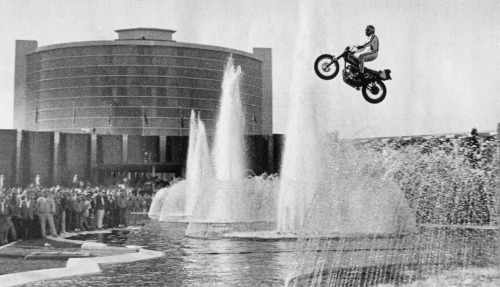 Epic Photo of Evel Knievel at Caesar's Palace in 1967